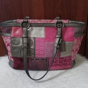Authentic COACH signature patch purse